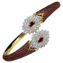 White Diamond Cuff Bracelets