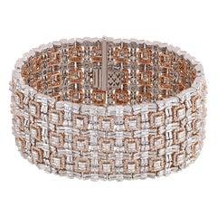 Studio Rêves Symmetrically Designed Tennis Bracelet in 18 Karat Gold