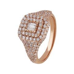 Studio Rêves White Diamond Ring in 18 Karat Rose Gold