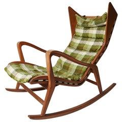 Studio Tecnico Cassina, Rocking Lounge Chair, Model 572 in Walnut, Italy, 1955