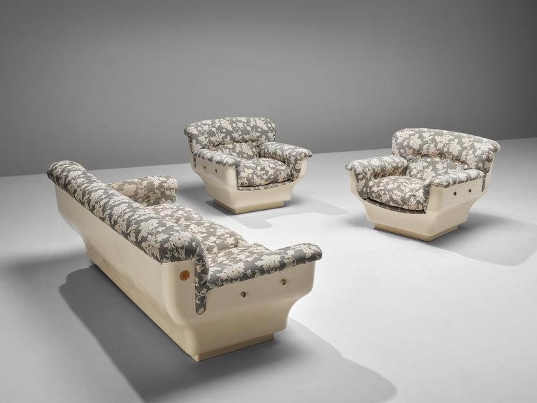Studio Tecnico for Mobilquattro 'Delta 699' Sofa in Floral Upholstery For Sale 5