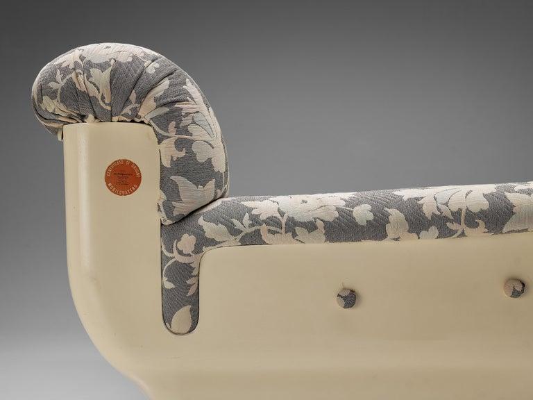 Studio Tecnico for Mobilquattro 'Delta 699' Sofa in Floral Upholstery For Sale 1