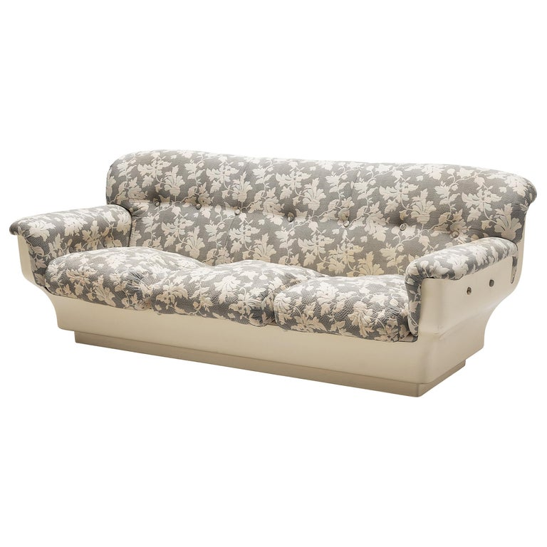 Studio Tecnico for Mobilquattro 'Delta 699' Sofa in Floral Upholstery For Sale