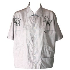 Studio VL, Upcycled and Embroidered Ascot Chang Mens Shirt
