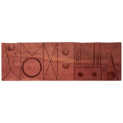 Studio Wood Wall Sculpture Panel by Michael Rozell, US, 2020