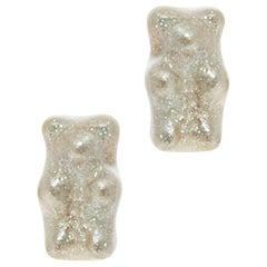 Studs Earrings Gummy Bear Stardust Gift 925 Sterling Silver Greek Jewelry