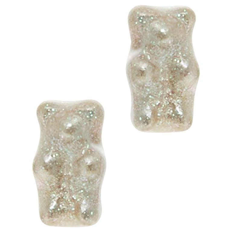 925 sterling silver gummy bear earrings