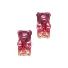Studs Earrings Gummy Bears Ombre Plum  Gift 18K Silver Gold-Plated Greek Jewelry
