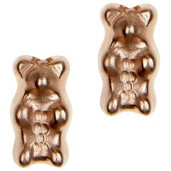 Studs Gummy Bears Rose Colorful Gift Silver Gold-Plated Greek Jewelry