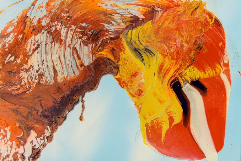 Study in Orange Oil Painting by Dennis Yesner In Good Condition For Sale In Houston, TX