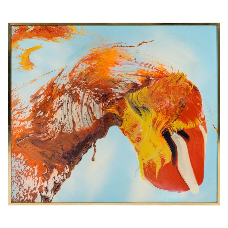 Study in Orange Oil Painting by Dennis Yesner For Sale