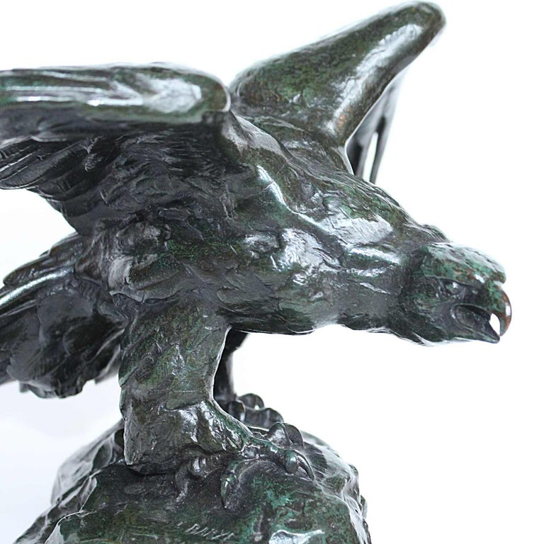 Mid-19th Century Bronze Eagle by Barye For Sale