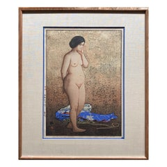 Study of Nude, Woodblock Print, One of Three Nudes, 1927, Yoshida Hiroshi