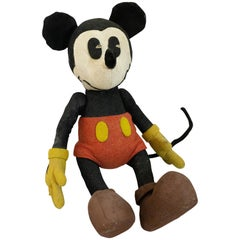 Stuffed Felt Mickey Mouse Children's Toy, circa 1930