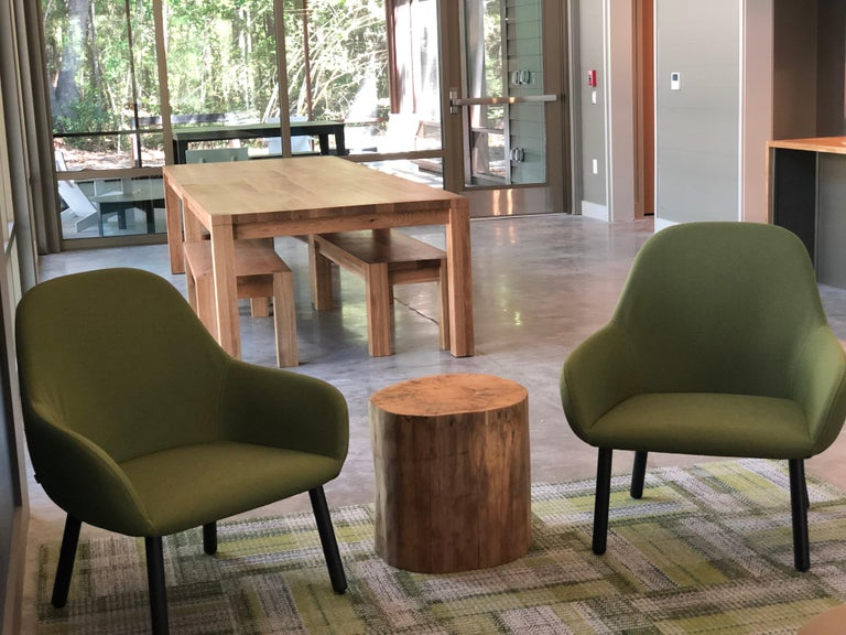 The stump side tables are the perfect size. These are pine rounds and can be grouped and used as a coffee table or used individually as a side table. Sturdy yet portable, incorporate them easily into any room and decor.