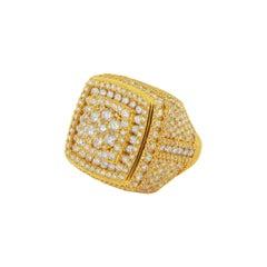Stunning 14k Yellow Gold Mens Ring