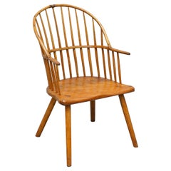 Stunning 18th Century Yew Wood Windsor Armchair Primate Design Stick Back