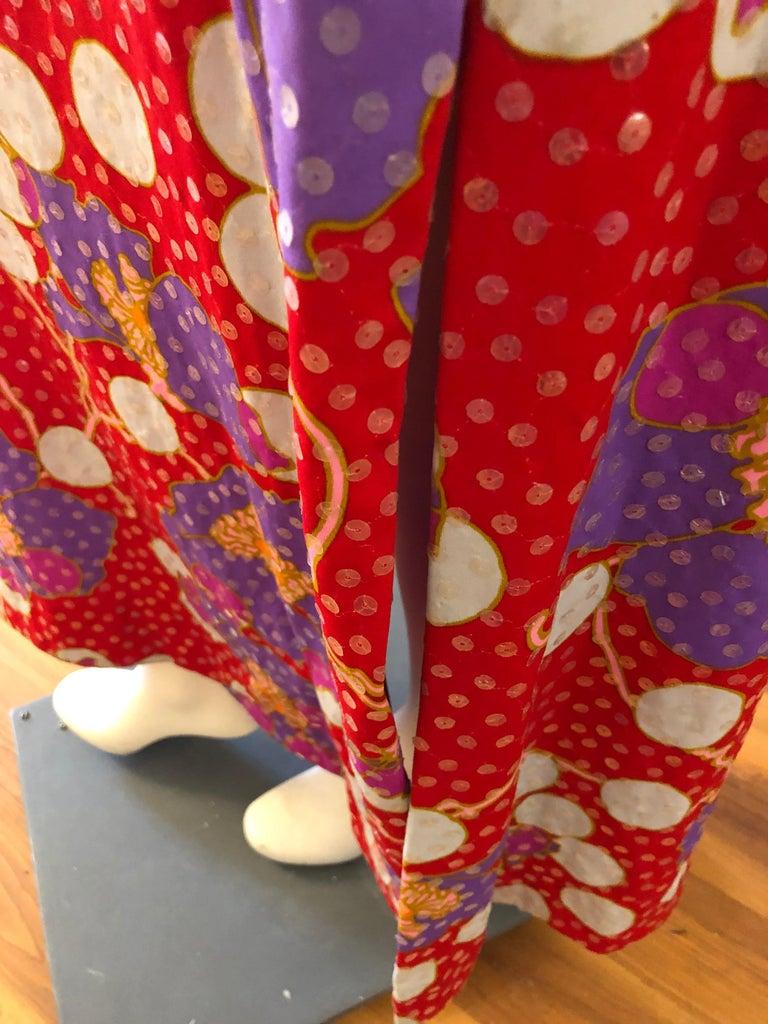 Stunning 1960s Anne Fogarty Sequin Floral Design Long Dress  For Sale 1