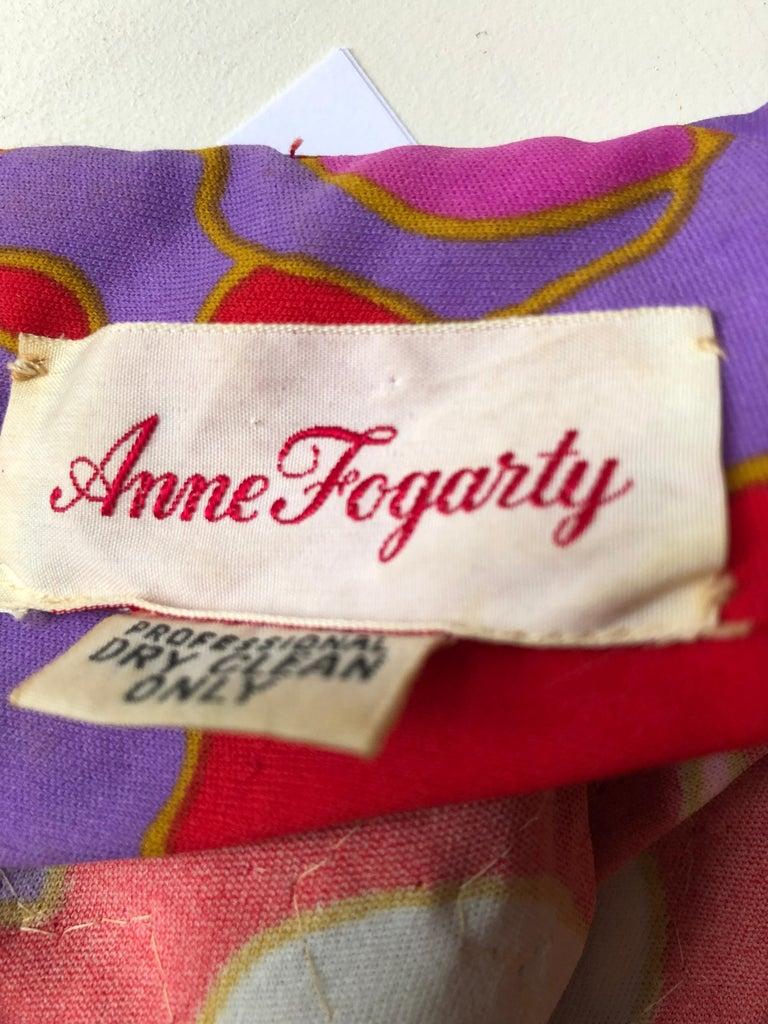 Stunning 1960s Anne Fogarty Sequin Floral Design Long Dress  For Sale 2