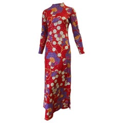Stunning 1960s Anne Fogarty Sequin Floral Design Long Dress