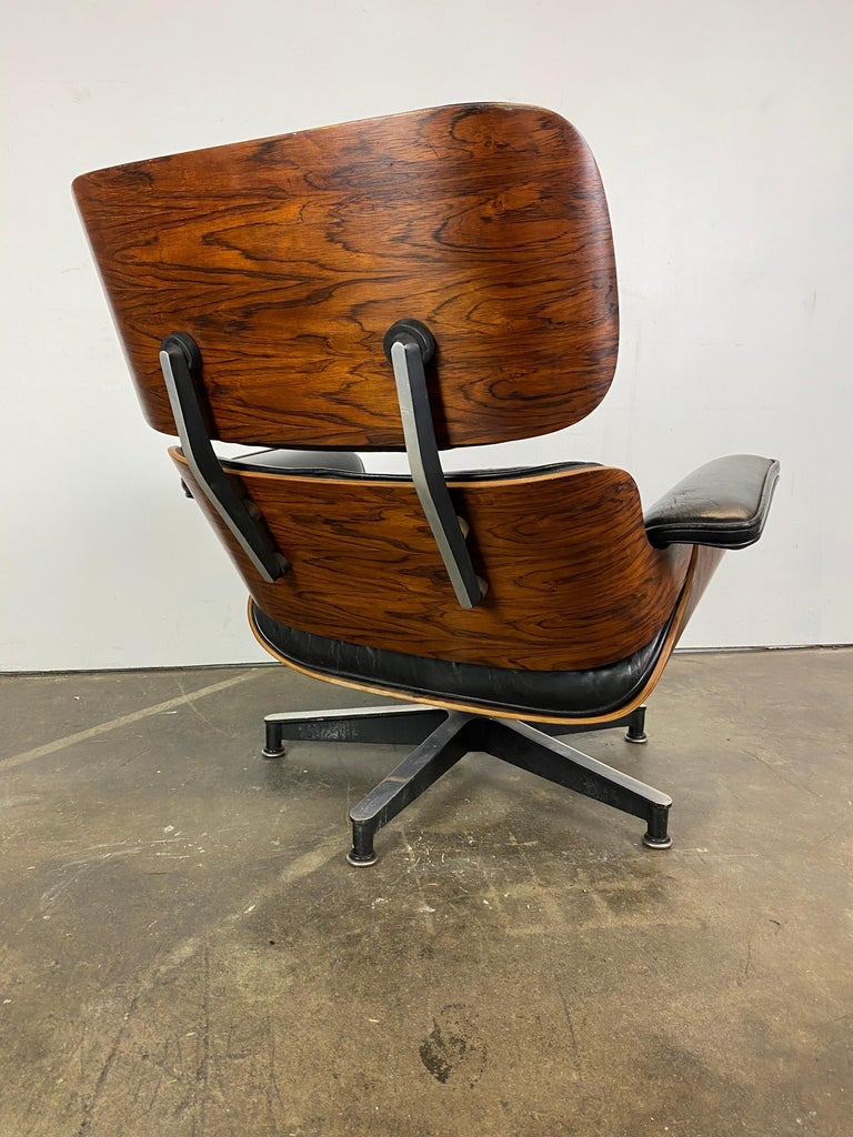 American Stunning 1960s Herman Miller Eames Lounge Chair and Ottoman For Sale