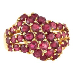 1980s 14K Gold Rubies Ring
