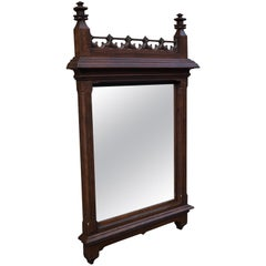 Large and Stunning 19th Century Hand Carved Gothic Revival Wall & Mantel Mirror