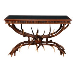 Stunning 20th Century Antler Library Table by Anthony Redmile, London circa 1970