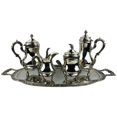20th Century Five-Piece Silver Plate Tea and Coffee Service