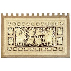 Stunning 20th Century Large Indian Needlework Wall Hanging