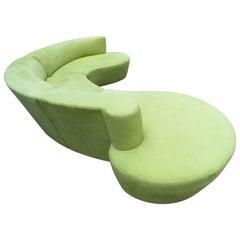 Stunning 3 Piece Vladimir Kagan Weiman Curved Cloud Sofa Sectional Modern