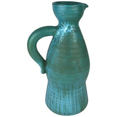 Stunning Accolay French Ceramic Pitcher, Manner of A. Kostanda