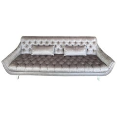Stunning Adrian Pearsall Tufted Sofa Hollywood Regency Mid-Century Modern