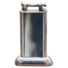 """Stunning Alfred Dunhill """"THE STANDARD"""" Sterling Silver Plated Table Lighter"""