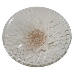 Stunning and Stylish French Art Deco Geometric Shape Glass Bowl by A. Hunebelle