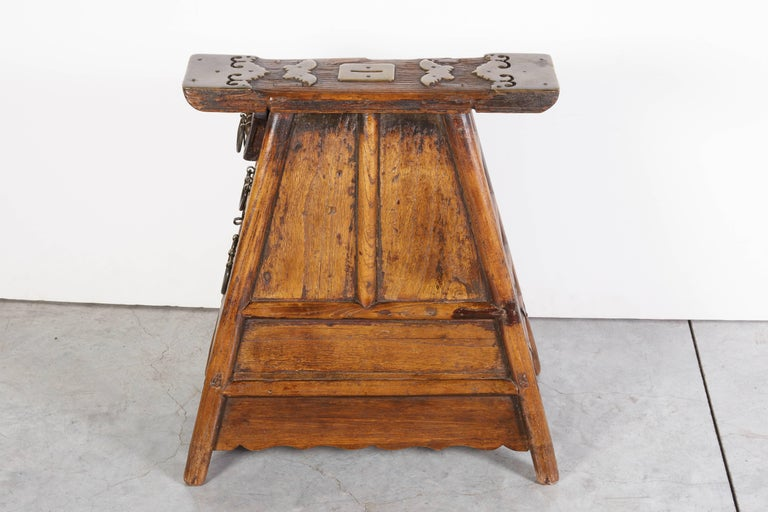 19th Century Stunning Antique Chinese Barber Stool with Original Fittings For Sale