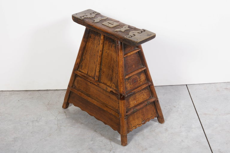 Stunning Antique Chinese Barber Stool with Original Fittings For Sale 2
