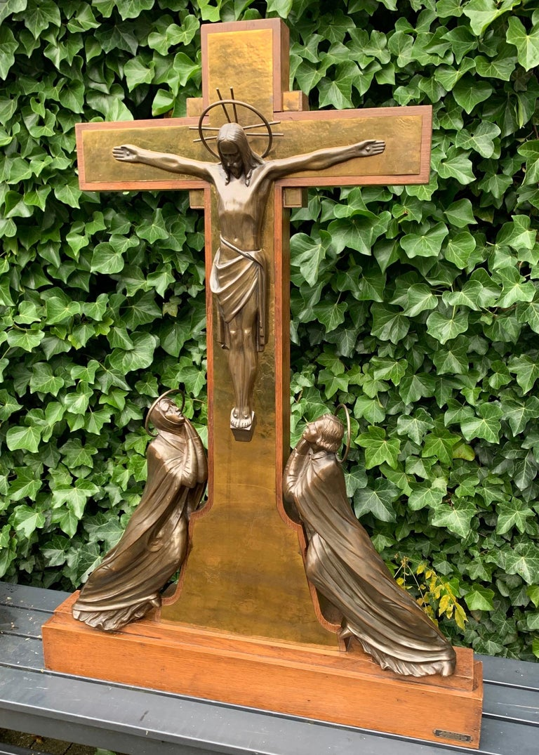 Large and exceptional work of religious art.  If you are a collector of truly exceptional church artefacts then this early 20th century altar piece could be perfect for you. With church related antiques as one of our specialties we know that you