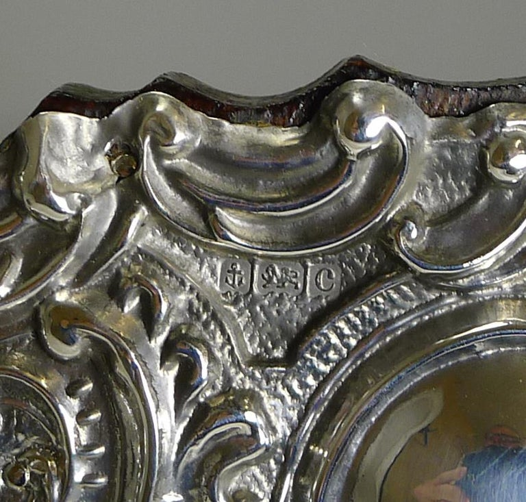 Edwardian Stunning Antique English Sterling Silver Photograph Frame, 1902 For Sale