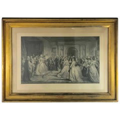 "Stunning Antique ""Lady Washington's Reception Day"" Engraving by A. H. Ritchie"