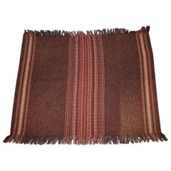 Stunning Antique Native American Indian Kilim Wall Hanging Striped Rug Throw