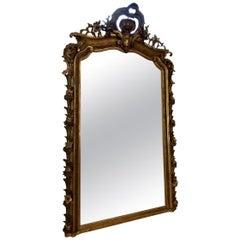 Stunning Antique Ornate Gilt Mirror, 1870s, France