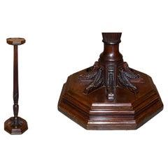 Stunning Antique Victorian Hardwood Hand Carved Jardiniere Plant Stand Pedestal