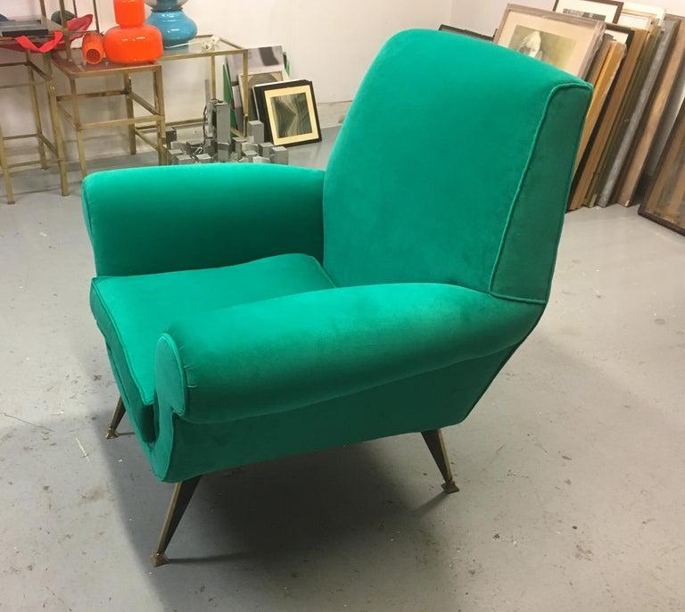 Mid-Century Modern Stunning Armchair by Gigi Radice for Minotti, Italy, 1960s For Sale