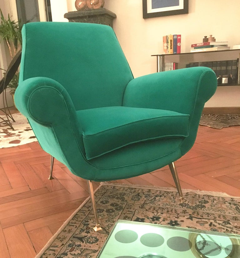 Italian Stunning Armchair by Gigi Radice for Minotti, Italy, 1960s For Sale