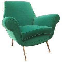 Stunning Armchair by Gigi Radice for Minotti, Italy, 1960s
