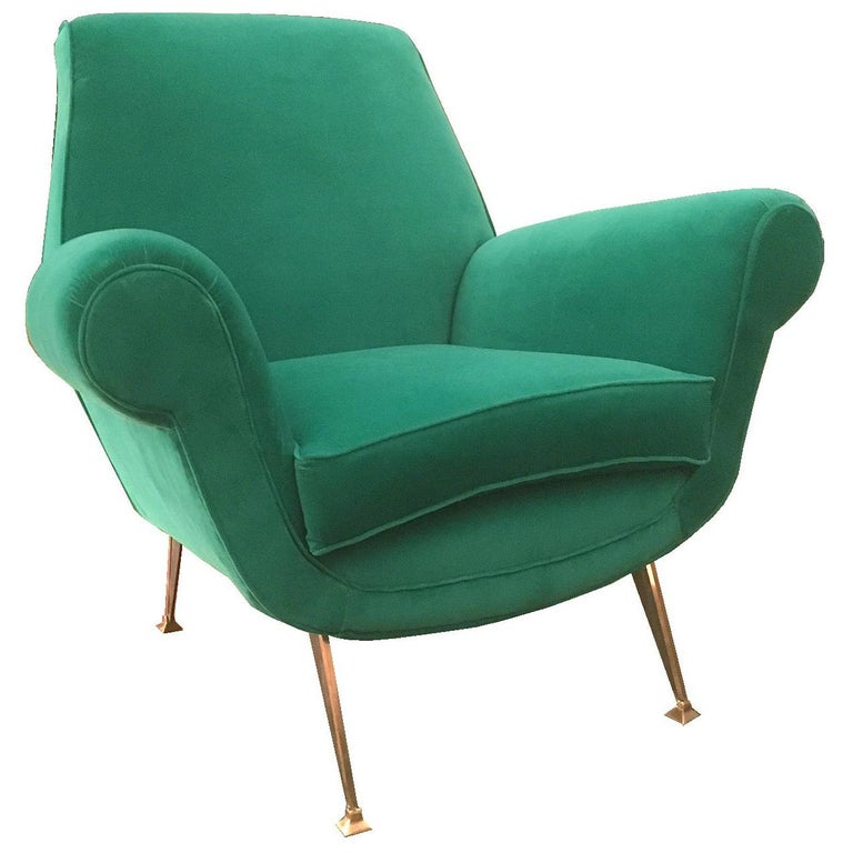 Stunning Armchair by Gigi Radice for Minotti, Italy, 1960s For Sale