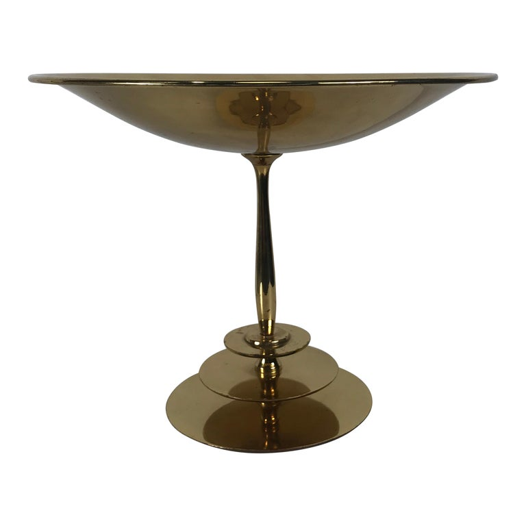 Stunning Art Deco Brass Compote/Centerpiece by A.G. Bunge, Germany For Sale