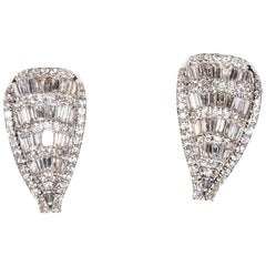 Stunning Art Deco Diamond and Gold Stud Earrings