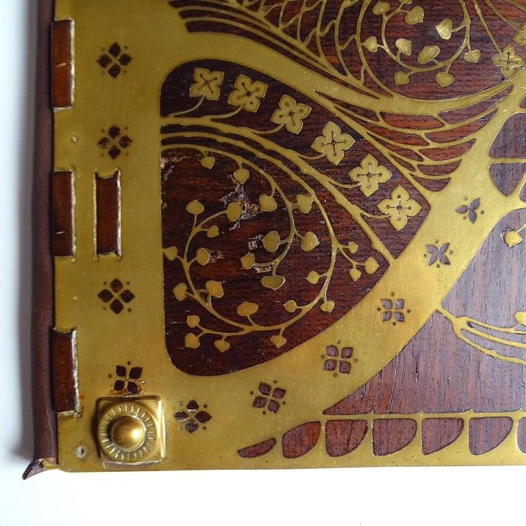 Antique Art Deco Document & Letter Holder, Brass & Rosewood 5